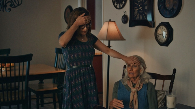 Living Room Coffin (2018) - Irene Roseen as the grandmother and Jennifer Prediger as Iris Hawthorn